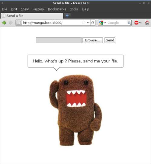 Droopy in the browser.